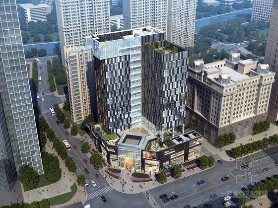 [上海]可持续性底层商业及高层办公建筑设计方案文本(知名设计院)
