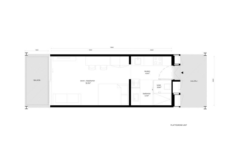 荷兰预制混凝土模块式的住宅-荷兰预制混凝土模块的住宅平面图 (9)