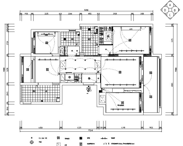 [浙江]御河湾混合风格住宅设计施工图(附效果图+3D模型)