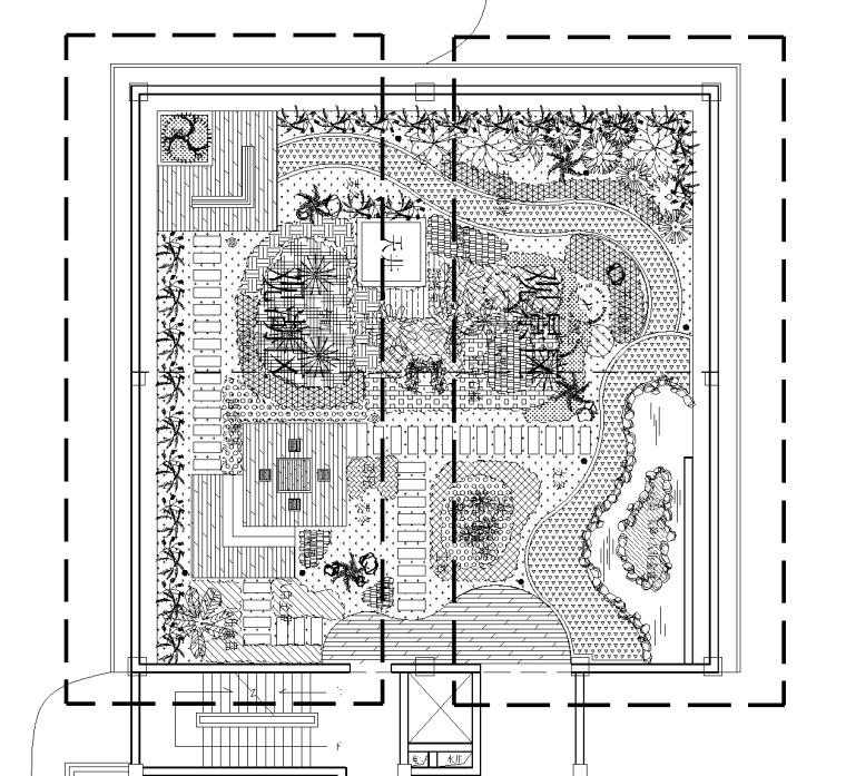 21套屋顶花园CAD施工图(9)