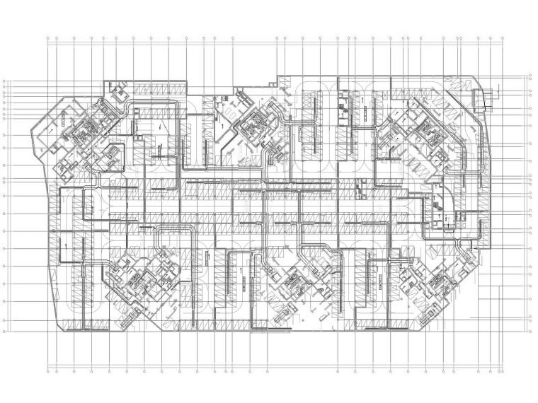 [广东]多栋超高层住宅 公寓通风防排烟系统施工图(人防 燃气设计)