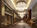 时尚酒店过道3D模型下载