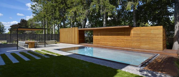 加拿大游泳池木屋-1