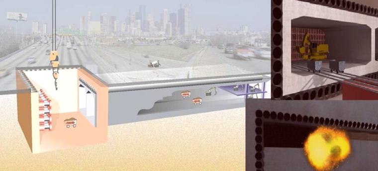 《城市地下空间建设新技术》课件(附50个动画)-地下通道(管幕—箱涵顶进技术)