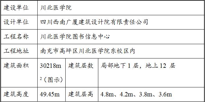川北医学院图书信息中心工程施工组织设计