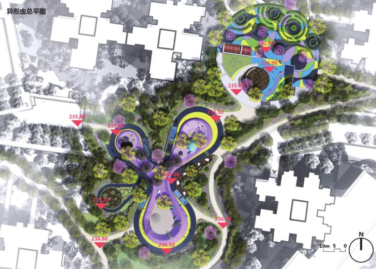 某居住区儿童活动场地景观概念设计方案文本(异虫形状)