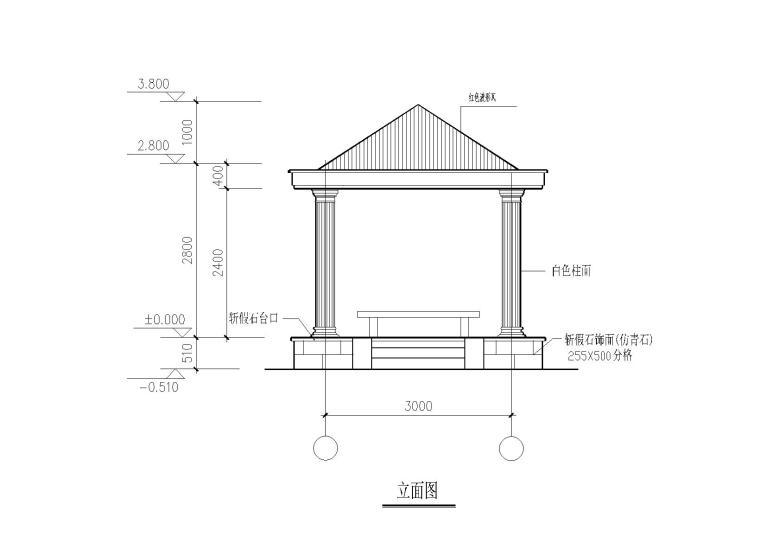 亭、长廊、围墙等建筑结构施工图