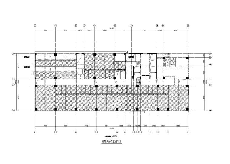 框剪结构办公楼加固结构设计施工图(2012)