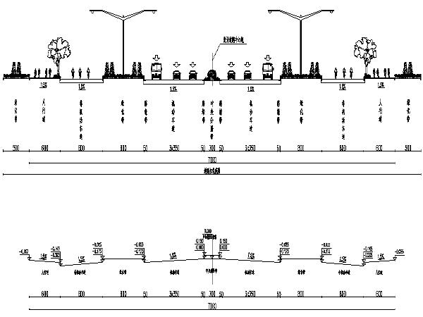 [深圳大学]市政道路毕业设计图纸电子版