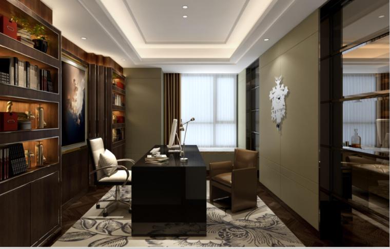 [深圳]现代风格样板房住宅空间设计效果图
