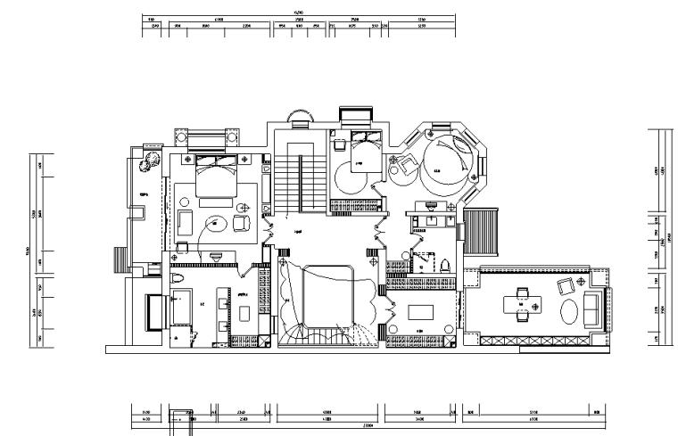 [河北]新古典风格三层别墅样板房施工图(含效果图)_2