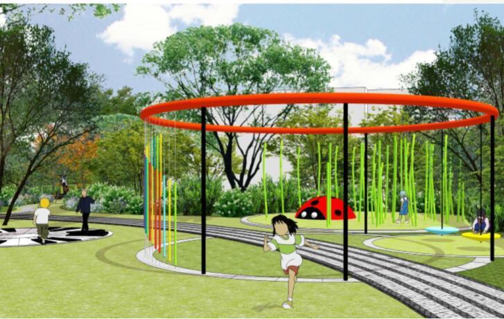 成都东原惠南示范区景观方案文本-11音乐墙效果图