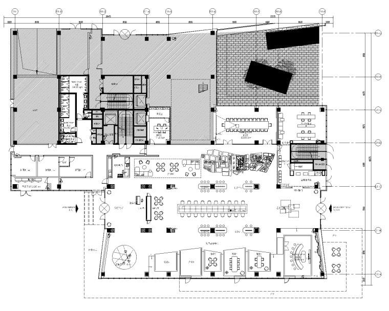 [北京]集艾设计-万科御河硅谷售楼处CAD施工图+汇报方案+效果图