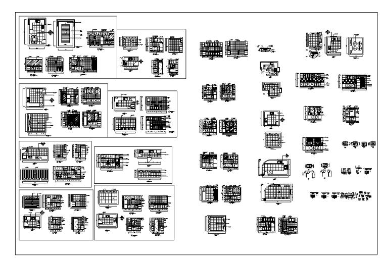 室内厨房装修设计施工图