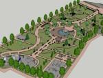 公园景观设计su模型
