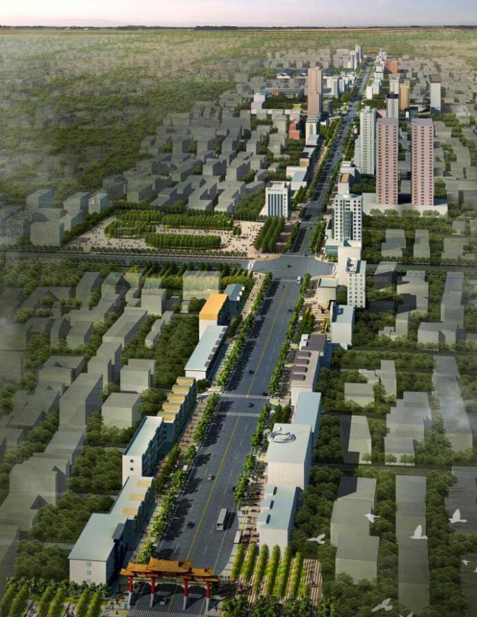 [山西]大型道路街道景观设计方案(土人)