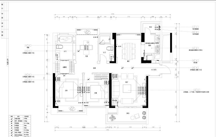 [惠州]东部现代城样板房施工图(附效果图加模型)