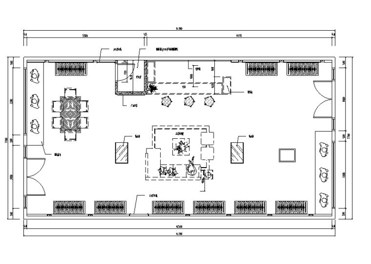 107平米服装店设计施工图(附3D模型+效果图)