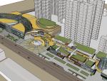 现代超精细商业购物中心建筑SU模型