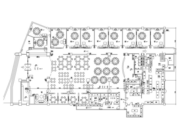 [上海]新中式风格大型酒店内部餐厅装修施工图