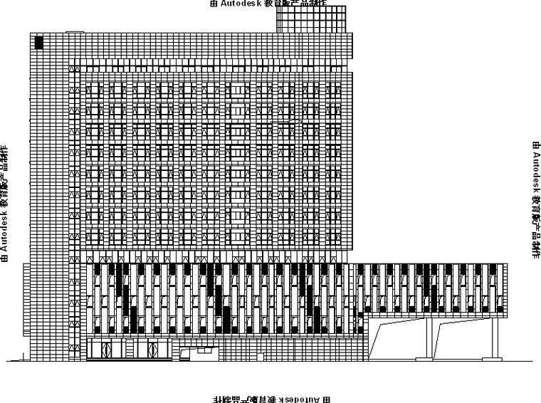 [合集]3套现代风格大型办公楼建筑幕墙施工图