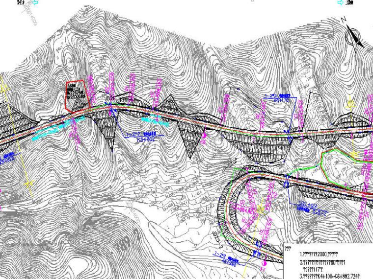[福建]双向两车道水泥混凝土路面三级公路工程设计图纸261张附预算289页(含路桥涵交通)