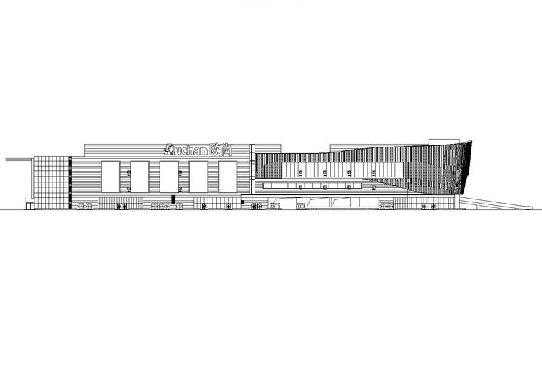 [嘉兴]欧尚城--Auchan欧尚超市建筑施工图(含结构、暖通、给排水图纸)