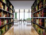 现代舒适图书馆3D模型下载