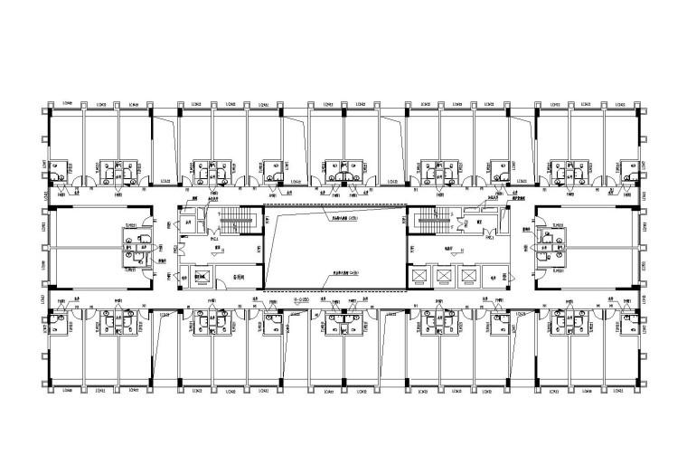 三号楼标准层平面图
