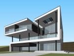 现代风格复式别墅设计SU模型