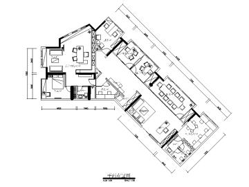 【湖北】武汉某投资办公室设计CAD施工图(含效果图)