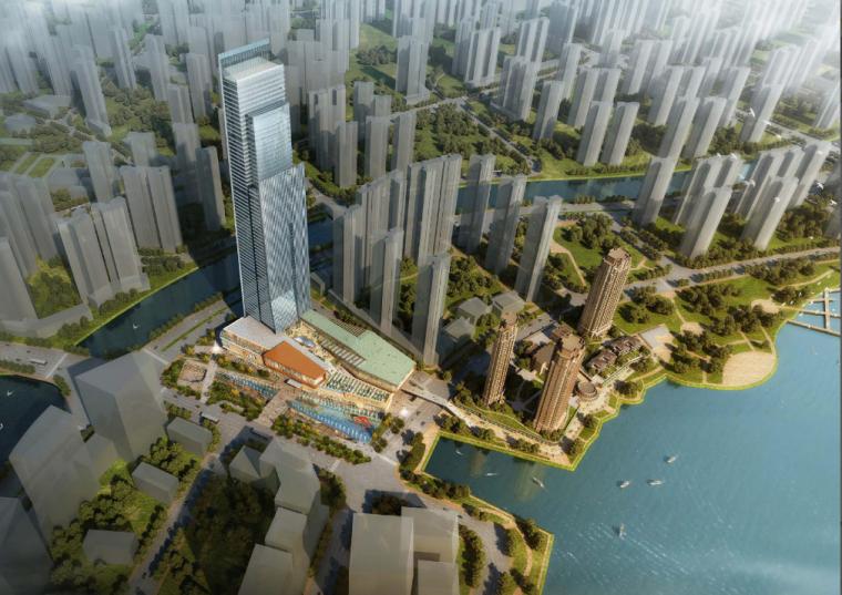 vivo总部方案设计资料下载-[湖南]某国际总部中心二期商业综合体项目方案设计