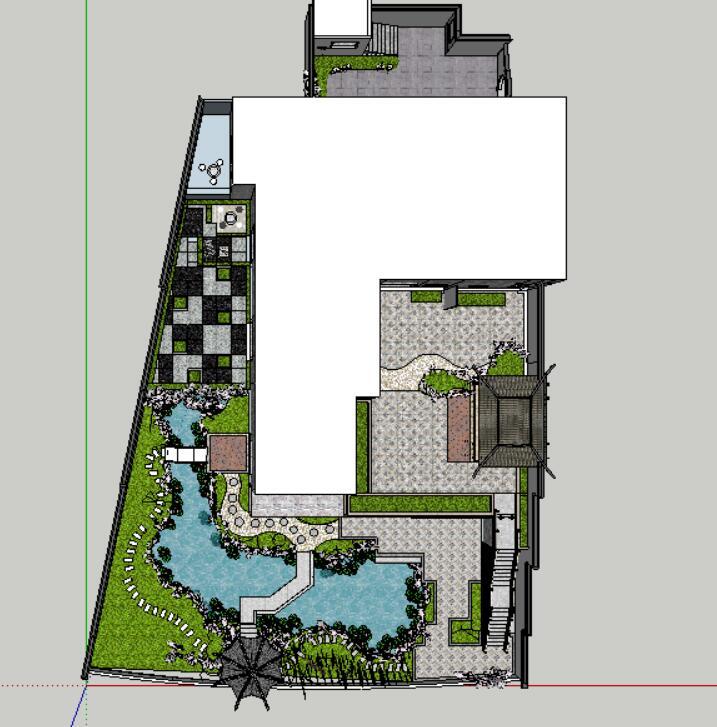 座凳•座椅,景墙•围墙,水景庭院设计su模型_3
