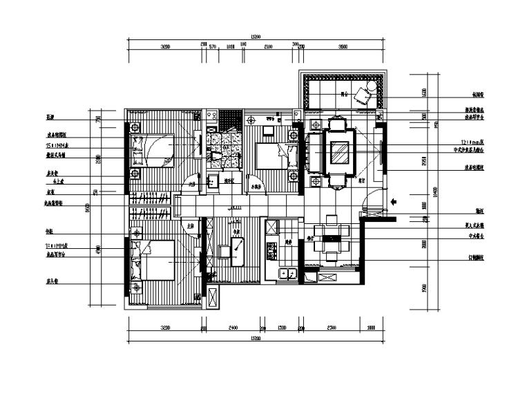 【广东】现代中式风格别墅设计CAD施工图(含效果图)_1