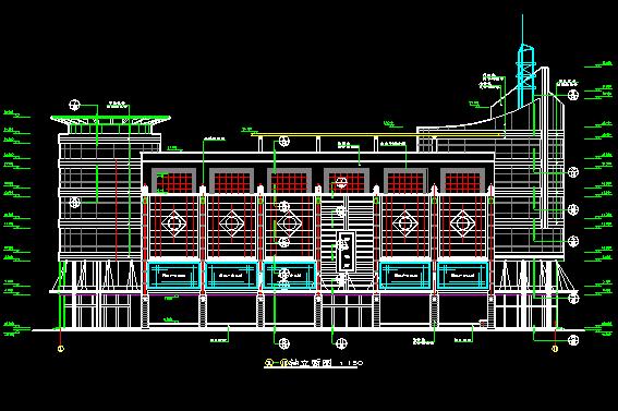 5层现代风格综合办公楼建筑施工图