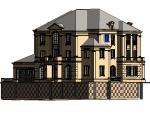 BIM模型-revit模型-法式别墅单幢正面附材质