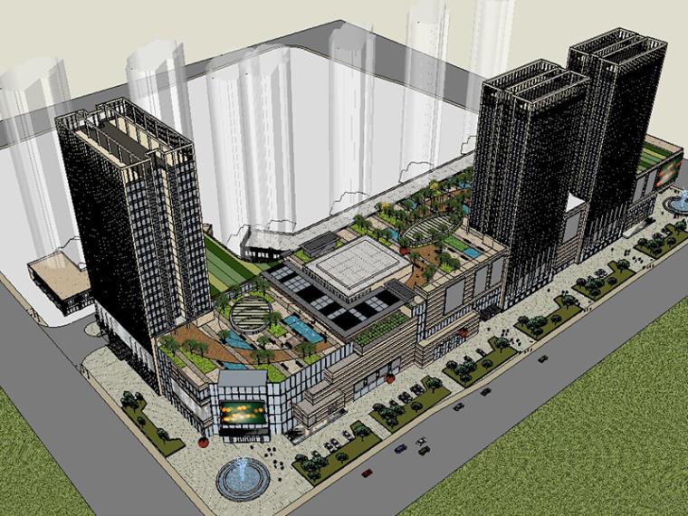 [龙湖]商业综合体建筑SU模型