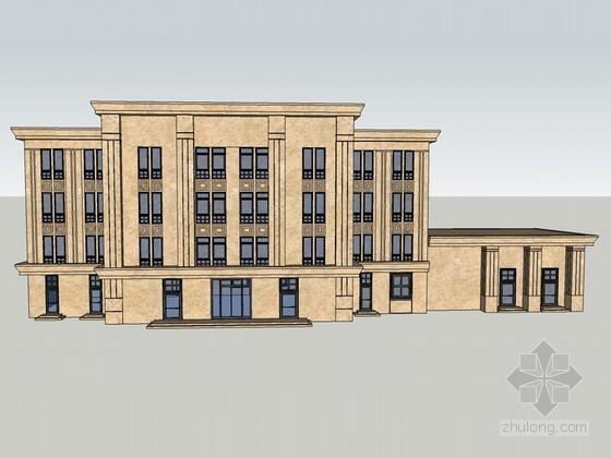 欧式大气建筑SketchUp模型下载-欧式大气建筑