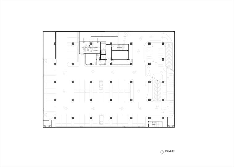 九转回环、流畅现代的车展大厅及办公楼设计_5