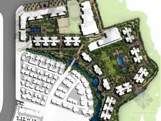 [广州]新古典高档住宅绿化景观设计方案(知名设计)