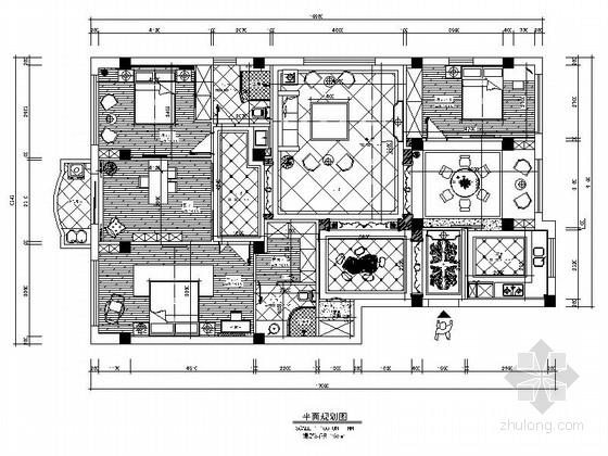 [温州]豪华欧式风格四居室装修图(含效果)