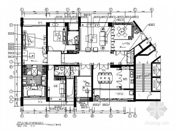 [深圳]浪漫温馨花园式3室3厅住宅室内设计施工图(含效果图)