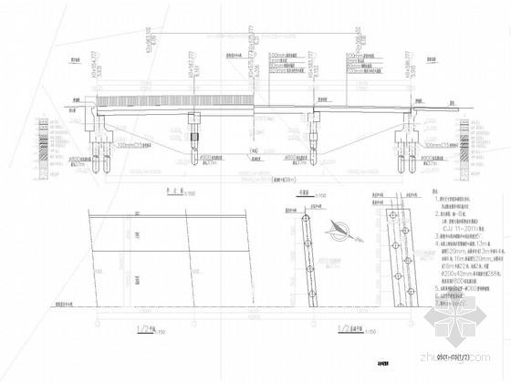 [上海]桥宽24.5m跨径13m+16m+13m预应力空心板梁桥施工图27张