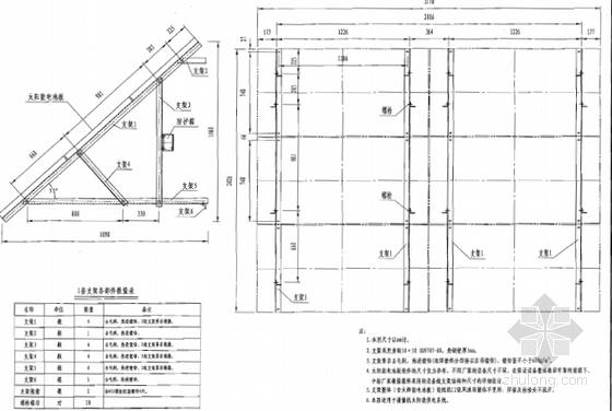 太阳能电池板支架结构图