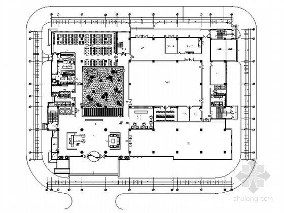 [南京]综合性通信软件研发中心现代办公室装修施工图(含水电图)