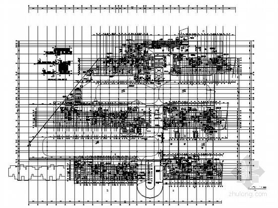 [浙江]住宅地下车库建筑设计施工图(带人防)
