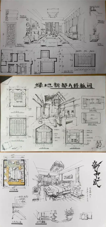 室内手绘 室内设计手绘马克笔上色快题分析图解_30