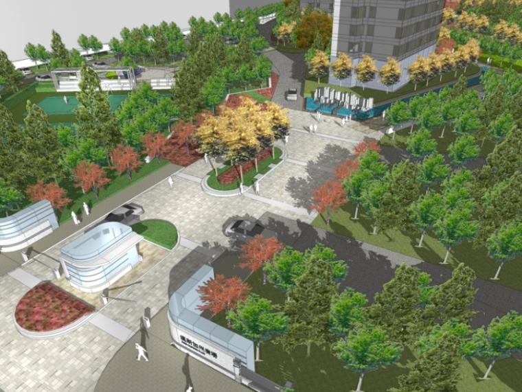 [辽宁]大连加州广场小区景观概念设计(PPT+45页)