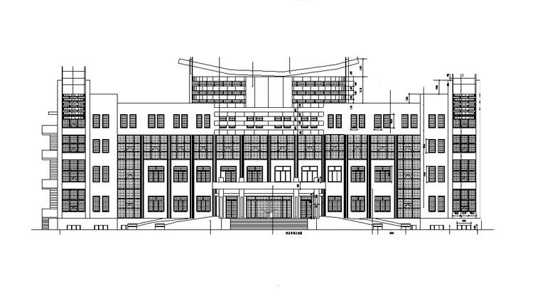 5套现代风多高层办公楼设计施工图CAD