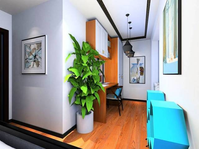 新中式魅蓝轩120平效果图-新中式《魅蓝轩》第8张图片